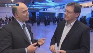 Pierre Moscovici répond à François-Xavier Pietri, le 24 janvier 2014.