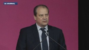 Jean-Christophe Cambadélis après son élection au poste de premier secrétaire du PS, le 15 avril 2014.