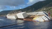 L'épave du Costa Concordia à Giglio.