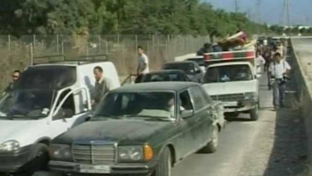TF1-LCI Embouteillages des évacués rentrant au Liban-Sud
