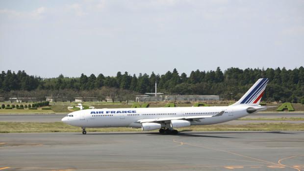Air France Airbus A340 avion illustration