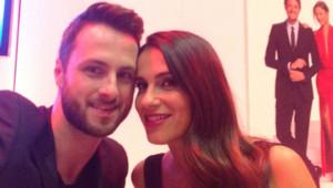 Elisa Tovati et Christophe Millet lors de la conférence de presse de Danse avec les stars