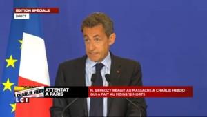Fusillade à Charlie Hebdo : Nicolas Sarkozy s'est exprimé, le discours en intégralité