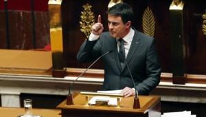 Manuel Valls, le 13 janvier 2015 à l'Assemblée nationale.