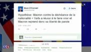 Déchéance de nationalité : la sortie remarquée de Macron moquée par la droite