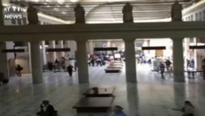 Images de panique à la gare centrale de Washington après des coups de feu