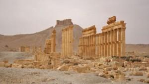 La cité antique de Palmyre en avril 2008.