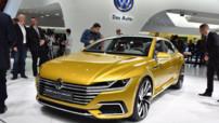 Le concept-car Volkswagen Sport Coupé GTE présenté au Salon de Genève le 3 mars 2015