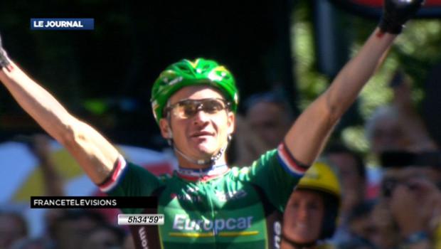 Le Français Thomas Voeckler a remporté la 16e étape du Tour de France, mercredi, à Luchon - juillet 2012