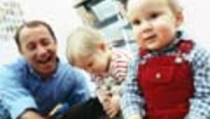 Père et edeux enfants