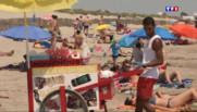 Le 13 heures du 1 juillet 2015 : A Carnon-Plage, les vendeurs ambulants sont aux petits soins des vacanciers - 1616