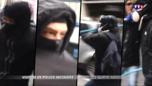Voiture de police incendiée : profil des quatre suspects