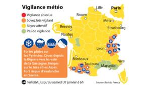 carte de vigilance orange du 30 janvier 2015