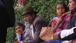 Des Roms en passe d'être expulsés à Saint-Etienne, le 6 août 2010.
