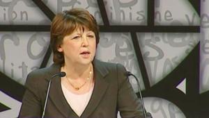 Martine Aubry à la tribune du congrès de Reims (15 novembre 2008)