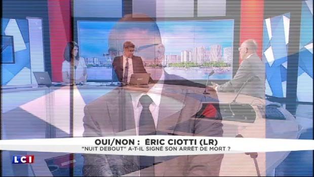 """Eric Ciotti : """"Nuit Debout ne m'est en rien sympathique"""""""