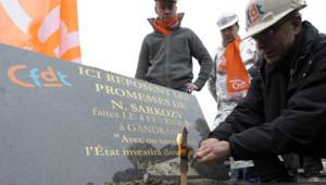 gandrange stèle promesse Sarkozy