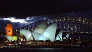 Le Harbour Bridge lors des Jeux olympiques de Sydney en 2000