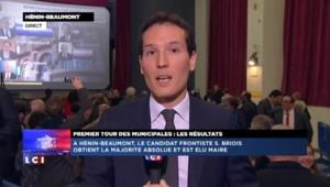 Le FN remporte Hénin-Beaumont dès le premier tour