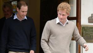 Les princes William et Harry ont rendu visite à leur grand-père le duc d'Edimbourg, hospitalisé à Londres, le 8 juin 2012.