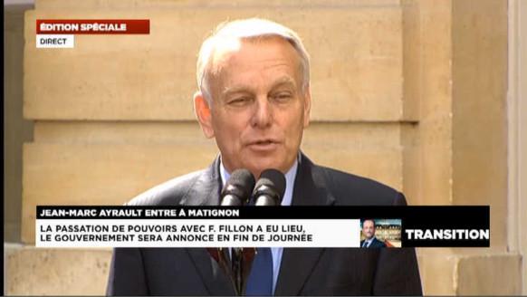 Ayrault : ses premiers mots de Premier ministre