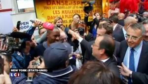 Hollande s'offre un bain de foule sur Broadway