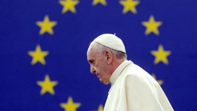 Le pape François au Parlement européen à Strasbourg, le 25 novembre 2014.