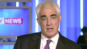 Le ministre britannique des Finances, Alistair Darling (8 octobre 2008)
