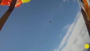 Une météorite a frôlé un parachutiste à l'été 2012.