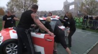 28 women stuff themselves in a Mini to set Guinness world re