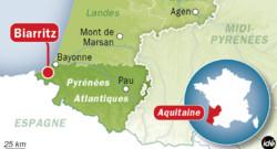 Carte de localisation de Biarritz, dans les Pyrénées-Atlantiques