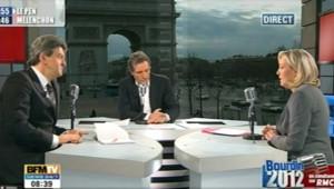 FN Marine Le Pen Mélenchon