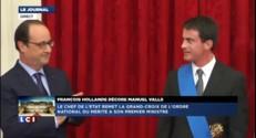 François Hollande décore Manuel Valls et offre des fleurs aux femmes de sa vie