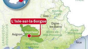 L'Isle-sur-la-Sorgue dans le Vaucluse.