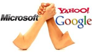 yahoo microsoft google bras de fer