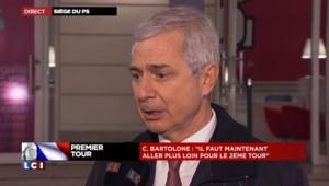 """Bartolone : """"On a eu une véritable résistance de l'électorat socialiste"""""""