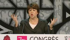 Congrès socialiste de Reims : Martine Aubry à la tribune