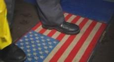 drapeau americain paillasson