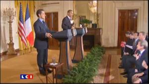 """Obama et Sarkozy """"unis"""" sur la question de l'Iran"""