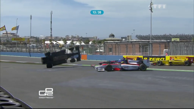 Accident GP2 Fabrizio Crestani Valence