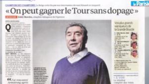 Capture écran de l'interview d'Eddy Merckx, dans le Parisien dimanche du 30 juin 2013