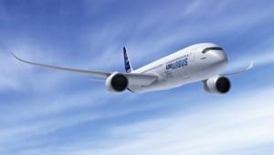 Le futur A350 XWB d'Airbus, filiale d'EADS.
