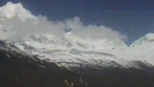 Le Manaslu, un des plus hauts sommets de la chaîne de l'Himalaya (8156 m)