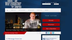"""Capture d'écran du site de campagne de """"Joe le Plombier"""""""