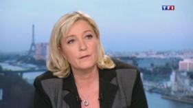 Marine Le Pen au 20h de TF1, le 9 avril 2015.