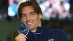 Camille Lacourt médaillé d'argent sur 100m dos aux championnats du monde de natation de Kazan