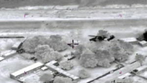 Images fournies par l'armée française : frappes aériennes au Mali