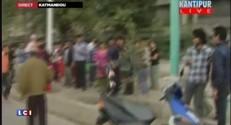 Népal : de gros dégâts et plusieurs blessés filmés par la télévision népalaise