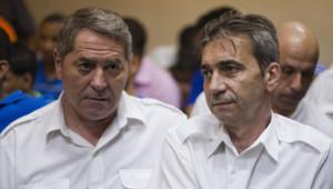Pascal Jean Fauret et Bruno Odos, le 4 février 2014, lors d'une audience en République dominicaine.