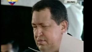 Atteint d'un cancer, Hugo Chavez a imploré Dieu de le sauver. Vénézueal, le 5 avril 2012.